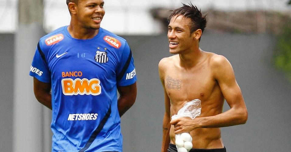 Neymar treina e se diverte no Santos, em setembro de 2012