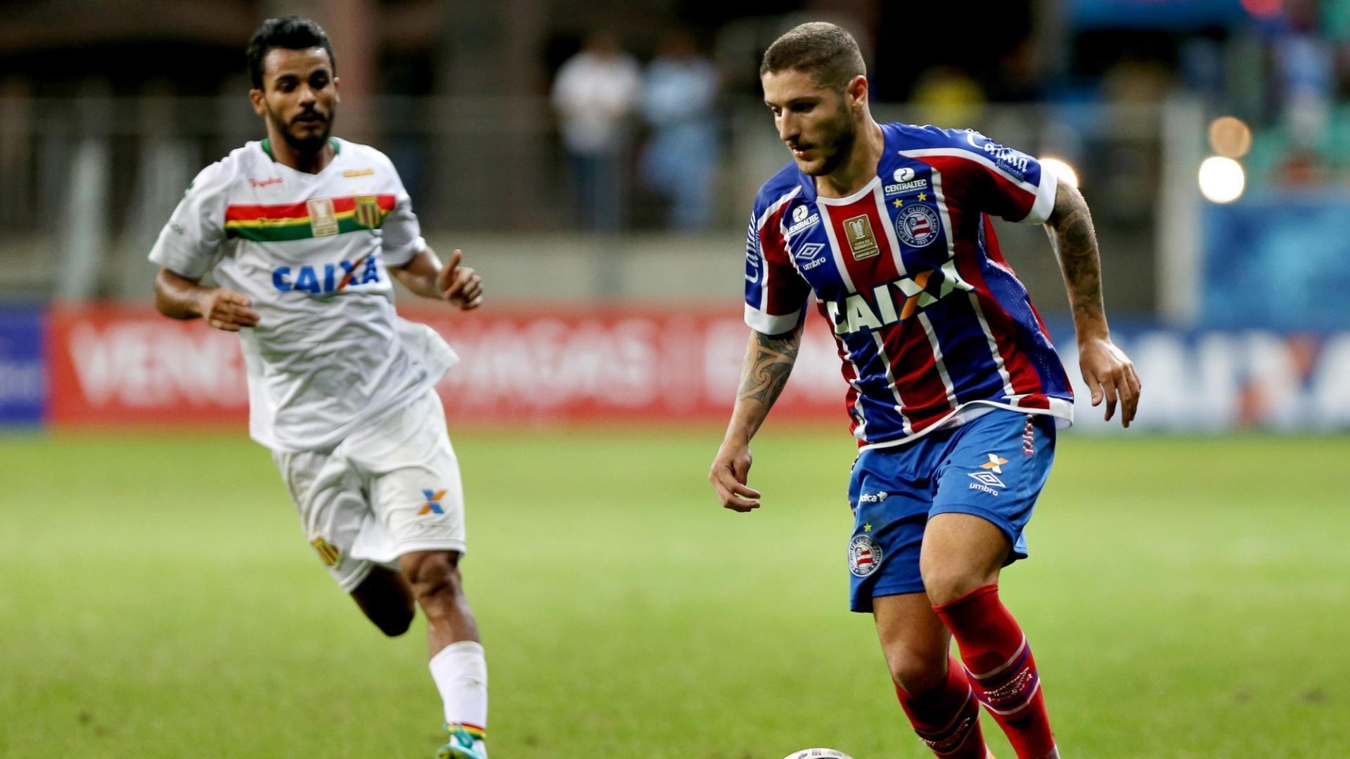 Zé Rafael em ação na final da Copa Nordeste disputada entre Bahia e Sampaio Corrêa