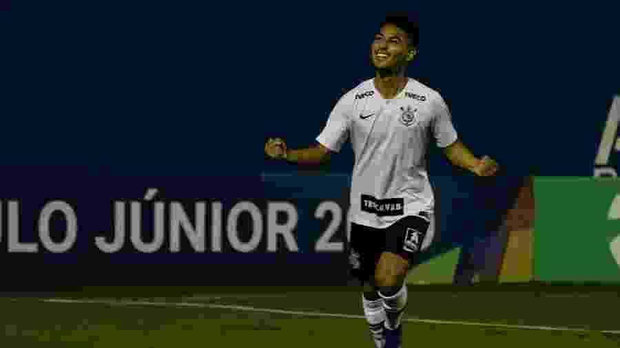 Fabricio Oya comemora gol do Corinthians contra o Grêmio na Copinha 2019 - GERO RODRIGUES/O FOTOGRÁFICO/ESTADÃO CONTEÚDO