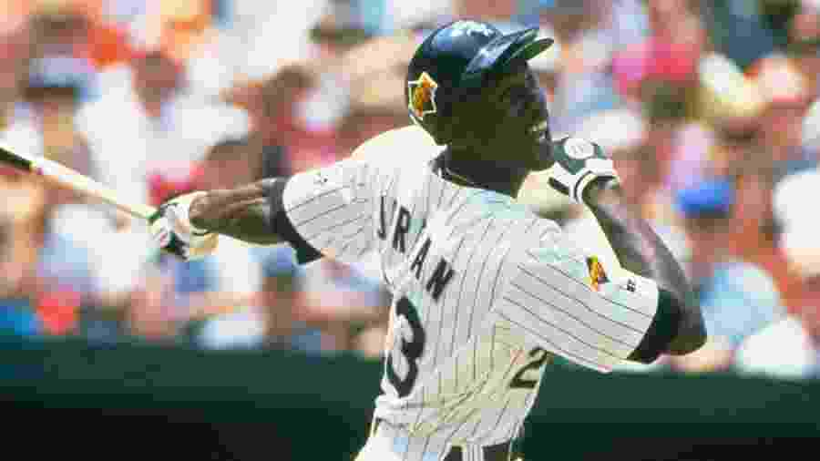 Michael Jordan, na época em que jogava beisebol pelo Birmingham Barons - Focus on Sport/Getty Images