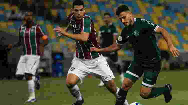 Goiás levou perigo para o Fluminense durante o primeiro tempo - Jotta de Mattos/AGIF