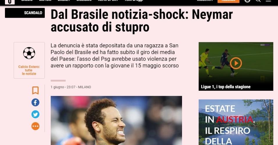 Como jornais repercutiram acusação a Neymar - Gazzetta dello Sport
