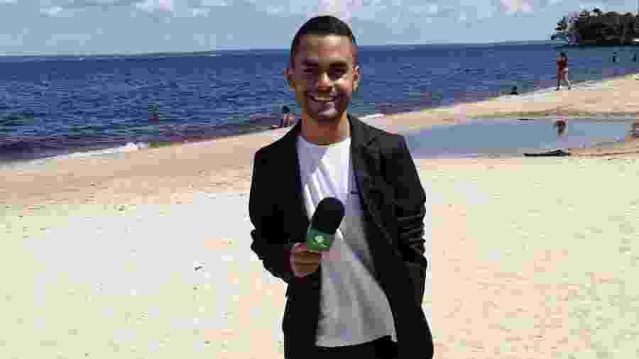 Gabriel Abreu, repórter atingido por bolada no treino do Manaus FC - Arquivo pessoal