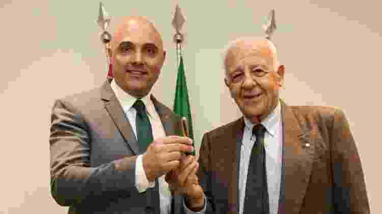 Maurício Galiotte, presidente do Palmeiras, e Seraphim Del Grande, presidente do conselho deliberativo - Fábio Menotti/Ag. Palmeiras/Divulgação - Fábio Menotti/Ag. Palmeiras/Divulgação