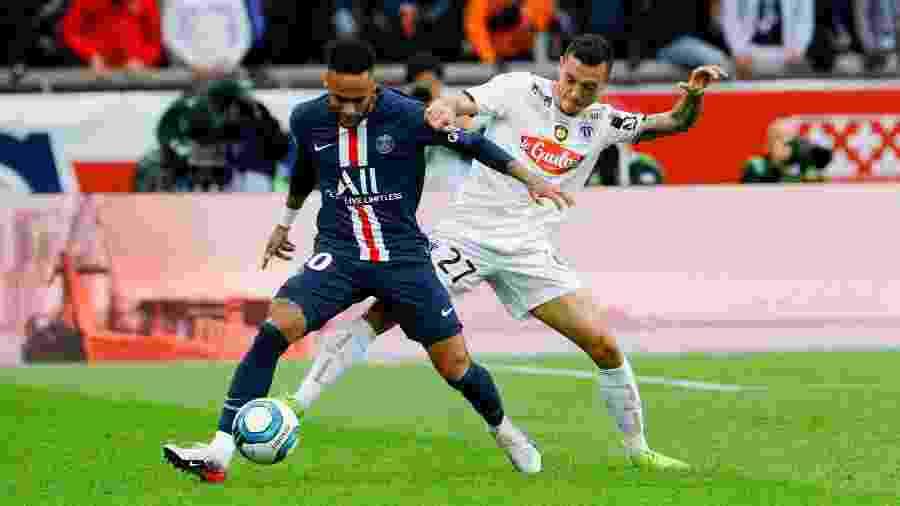 NEYMAR,em jogo do PSG e Angers - GEOFFROY VAN DER HASSELT / AFP