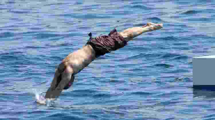 Jason Statham foi mergulhador profissional - Pool BENAINOUS/HOUNSFIELD/LEGRAND/Gamma-Rapho via Getty Images - Pool BENAINOUS/HOUNSFIELD/LEGRAND/Gamma-Rapho via Getty Images