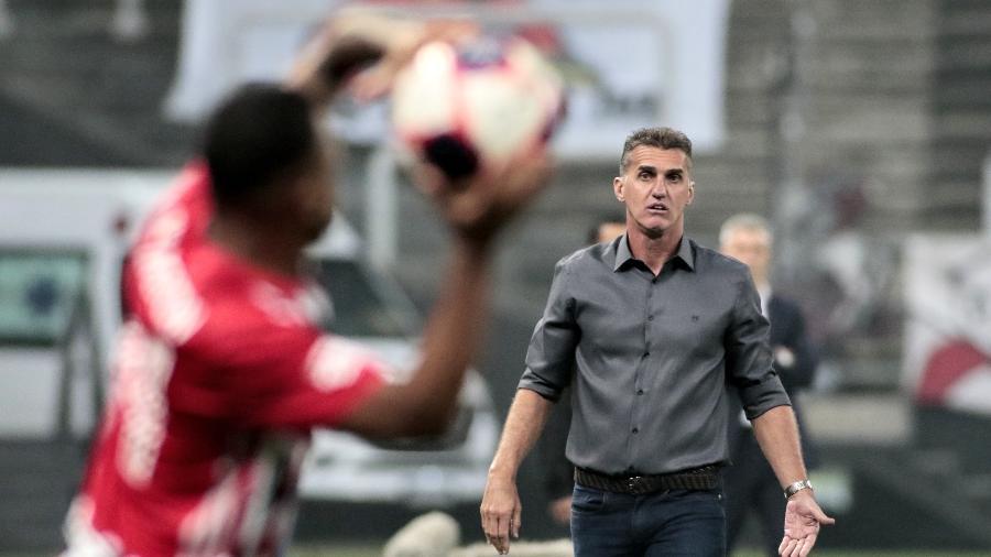 Vágner Mancini, técnico do Corinthians, reage durante clássico com o São Paulo pelo Campeonato Paulista - Rodrigo Coca/Agência Corinthians