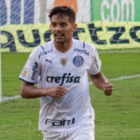 Gustavo Scarpa comemora gol do Palmeiras sobre o Sport - Rafael Vieira/AGIF