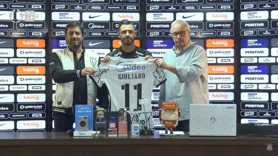 Giuliano vestirá a camisa nº 11 no Corinthians - Reprodução