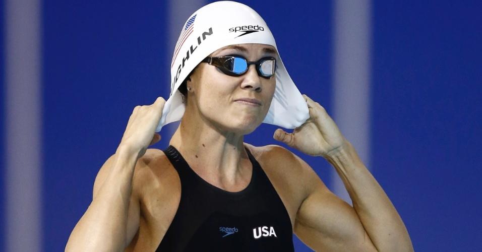 Principal estrela dos Estados Unidos no Pan, Natalie Coughlin nadou as eliminatórias dos 100 m livre e não decepcionou, se classificando para a final com o melhor tempo da bateria