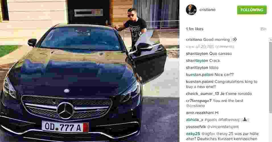 Cristiano Ronaldo exibiu sua Mercedes de mais de R$ 900 mil - Reprodução/Instagram