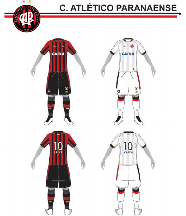 Uniformes 1 e 2 do Atlético-PR