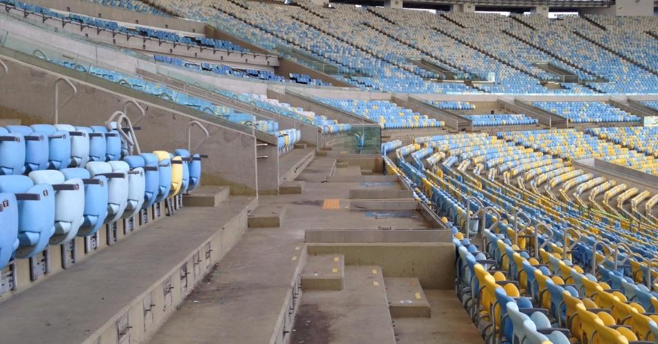 Após receber competições e cerimônias dos Jogos Olímpicos, o Maracanã corre contra o tempo para ficar pronto a tempo de receber partidas de futebol ainda em outubro. Confira como estão as obras no estádio, em fotos de 6 de outubro