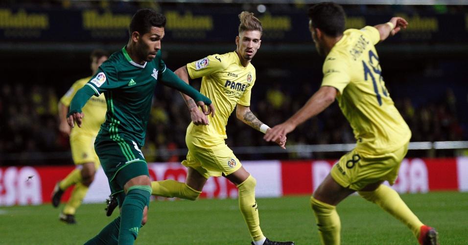 Petros, do Betis, em partida contra o Villarreal