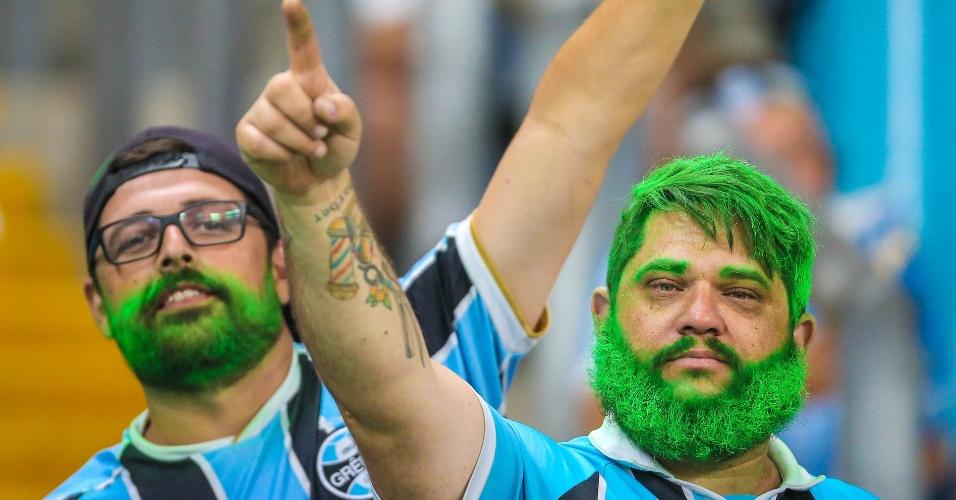 Gremistas na Arena Grêmio para acompanhar a decisão da Copa do Brasil