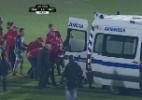 Argelino deixa campo de ambulância após forte pancada em jogo do Português - BeIN Sports/Reprodução