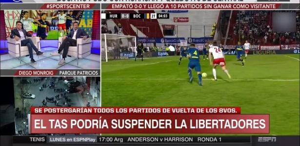 Possibilidade de suspensão de jogos havia sido veiculada pela imprensa argentina - Reprodução