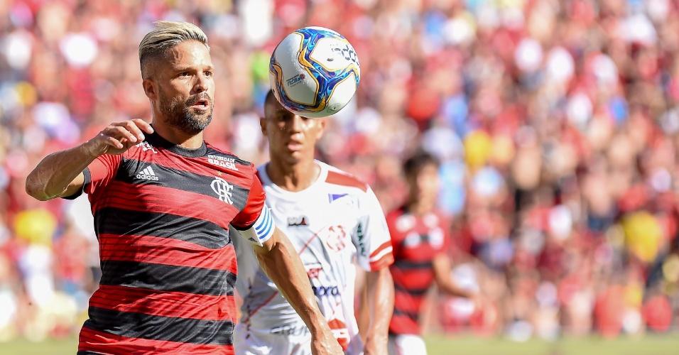 Diego, durante partida entre Flamengoe Bangu