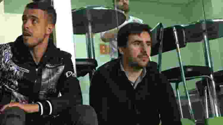 Reforço do Atlético-MG, jogador Franco Di Santo (esquerda) aparece no Horto - Thiago Fernandes/UOL - Thiago Fernandes/UOL