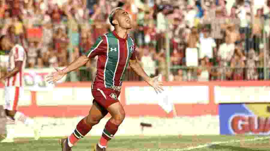 Gabriel Capixaba comemora gol contra o Bangu; meia faz parte do projeto sub-23 - Mailson Santana/Fluminense FC