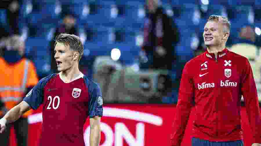 Odegaard e Haaland, os dois principais expoentes da nova geração do futebol norueguês - Getty Images