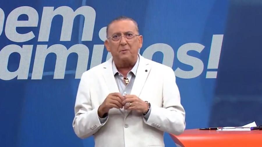 """Galvão Bueno apresenta o """"Bem Amigos!"""" no SporTV: voltará a titularidade do programa após 14 meses nesta segunda (12) - Reprodução/SporTV"""