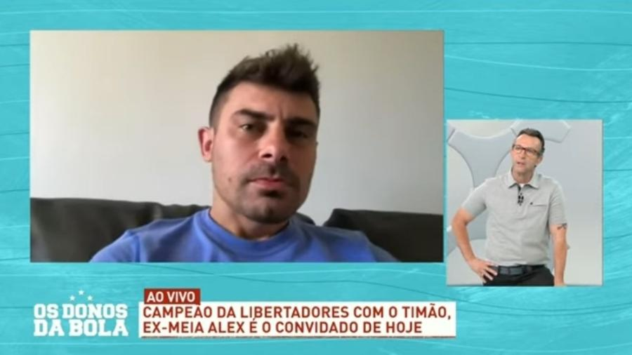 Alex, ex-Inter e Corinthians, no Os Donos da Bola - Reprodução/Bandeirantes