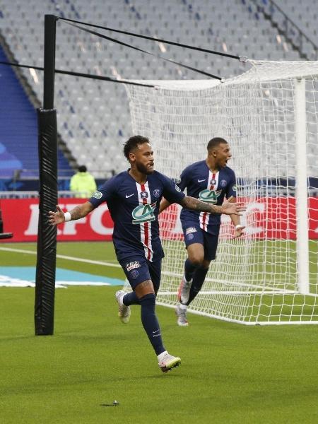Neymar comemora o gol pelo PSG na final da Copa da França de 2020  - Reprodução/site oficial PSG