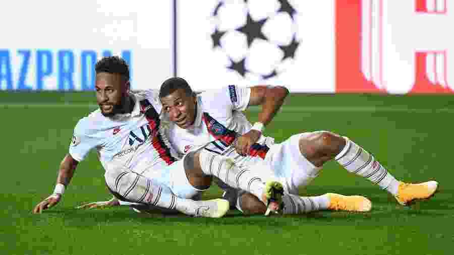 """Segundo Nasser Al-Khelaïfi, atacante """"nunca vão embora, vão ficar no PSG"""" - David Ramos/Getty Images"""