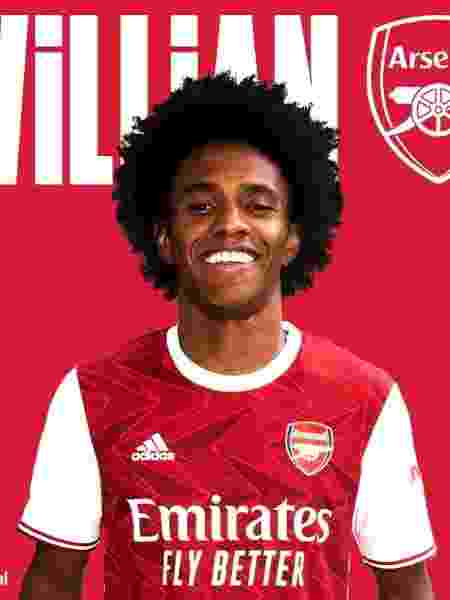 Willian é anunciado como jogador do Arsenal - Divulgação