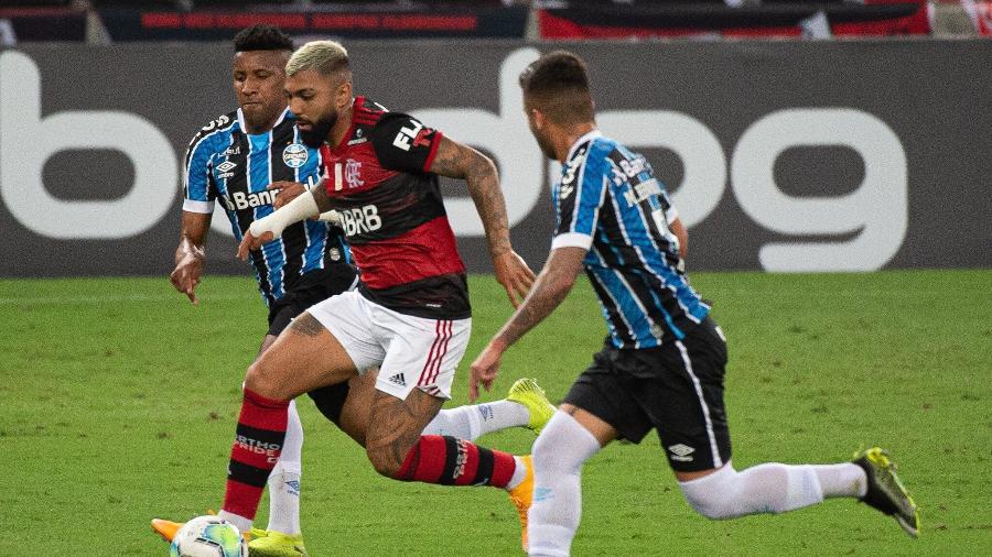 Gabigol, do Flamengo, no empate contra o Grêmio pelo Campeonato Brasileiro - Alexandre Vidal / Flamengo