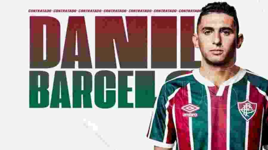 Lateral-esquerdo Danilo Barcelos foi anunciado pelo Fluminense - Reprodução