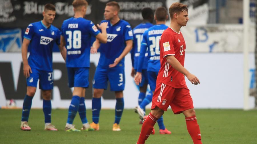 Joshua Kimmich, do Bayern, lamenta derrota do time para o Hoffenheim - Wolfgang Rattay/Reuters