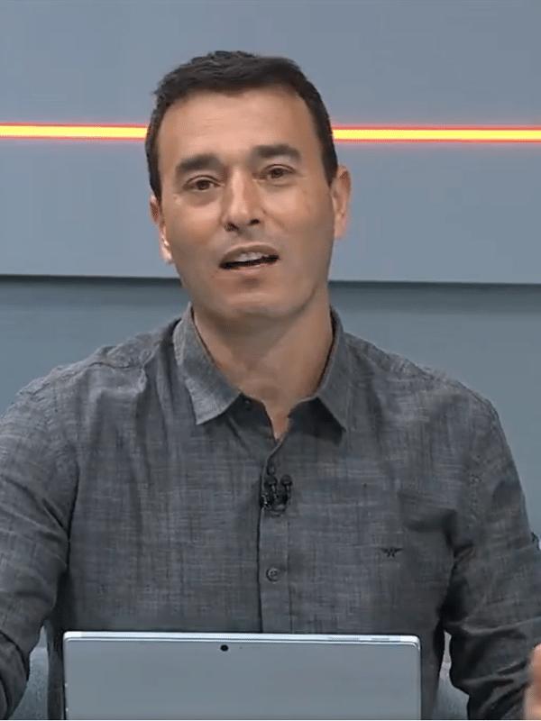 Rizek durante o Seleção SporTV
