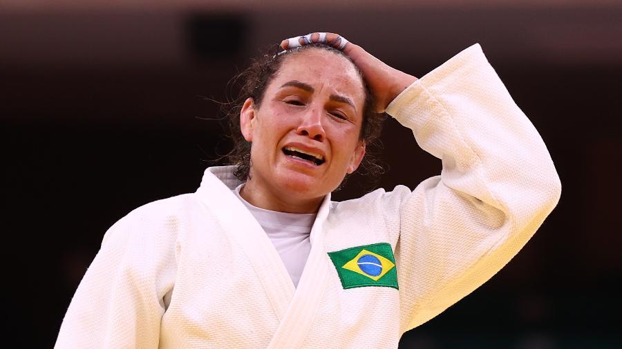 Judoca Maria Portela teve derrota com polêmica de arbitragem contra a russa Madina Taimazova em Tóquio - Sergio Perez/Reuters