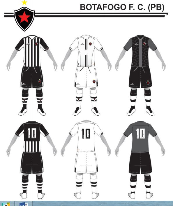 Uniformes 1, 2 e 3 do Botafogo-PB