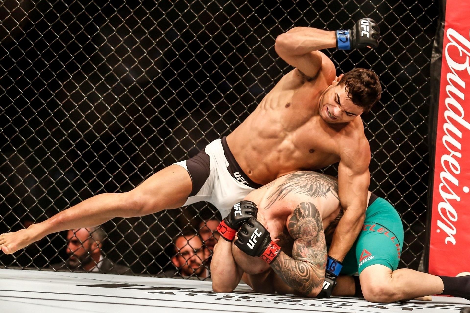 Borrachinha martela cabeça de McLellan no UFC Fortaleza