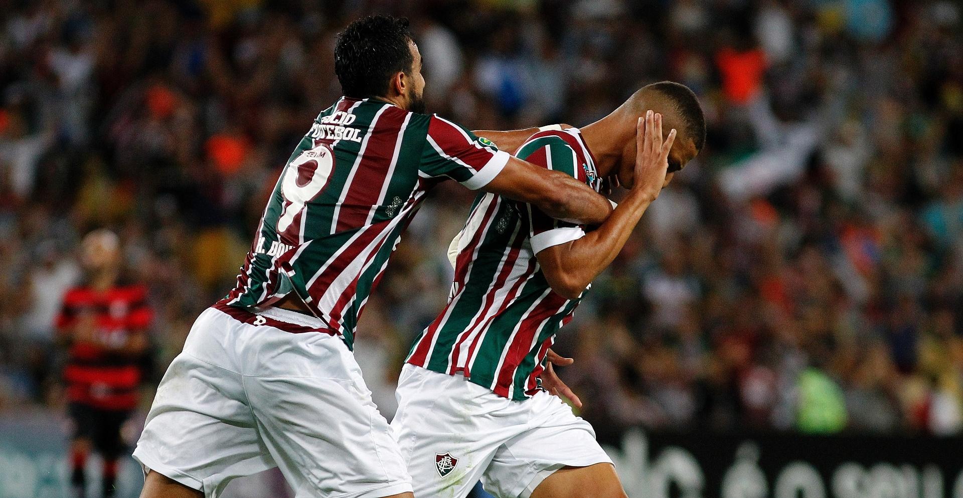 Richarlison comemora gol do Fluminense diante do Vitória pelo Campeonato Brasileiro