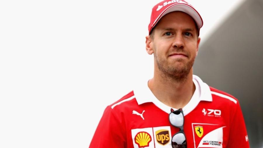 Sebastian Vettel, da Ferrari, no paddock de Suzuka, no Japão - Mark Thompson/Getty Images