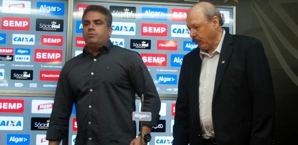 "Orlando Rollo, vice-presidente, José Carlos Peres, presidente, ""brigam"" na Vila Belmiro"