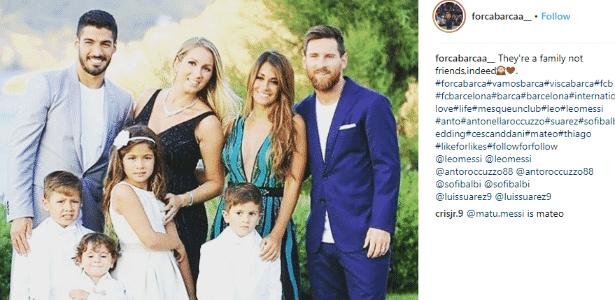 Messi e Suárez participam de casamento de Fàbregas - Reprodução - Reprodução