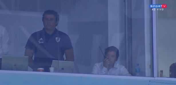 Para diretoria gremista, participação de Marcelo Gallardo em partida foi irregular - reprodução/SporTV