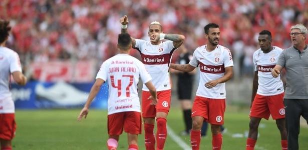 Jonatan Alvez comemora um de seus quatro gols pelo Internacional na temporada 2018 - Ricardo Duarte/SC Internacional