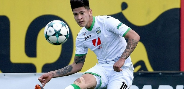 """Jorge Carrascal, o """"Neymar colombiano"""", joga no Karpaty Lviv (Ucrânia) - @FCKarpatyLviv/Twitter"""