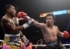 """Manny Pacquiao mantém título e provoca Mayweather: """"volte para o ringue"""" - Joe Camporeale/USA TODAY Sports"""
