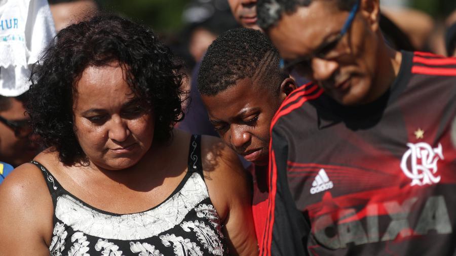 Marilia, mãe de Arthur Vinicius, jogador do Flamengo morto em incêndio - Ricardo Moraes/REUTERS