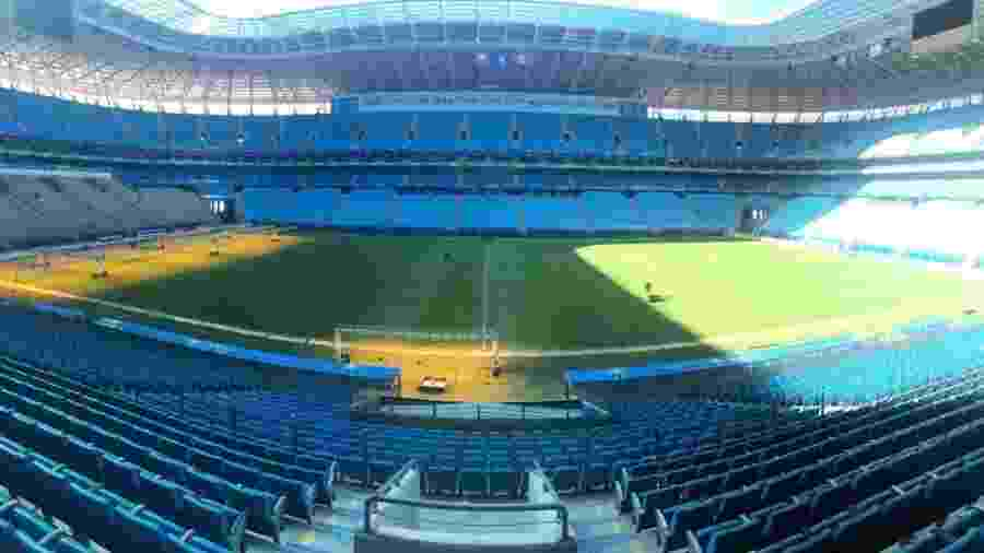 Arena do Grêmio sofreu com invasão de torcedores no jogo da última quarta - Divulgação