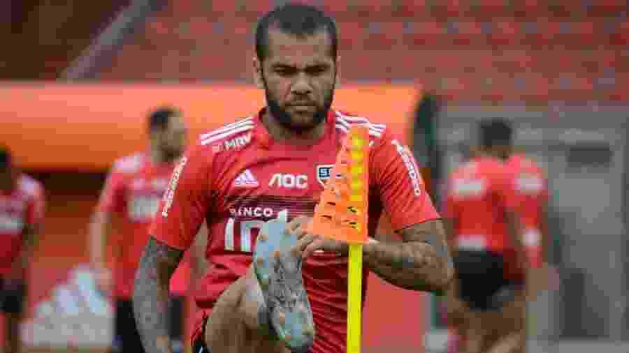 Daniel Alves, lateral-direito do São Paulo - Divulgação/saopaulofc.net
