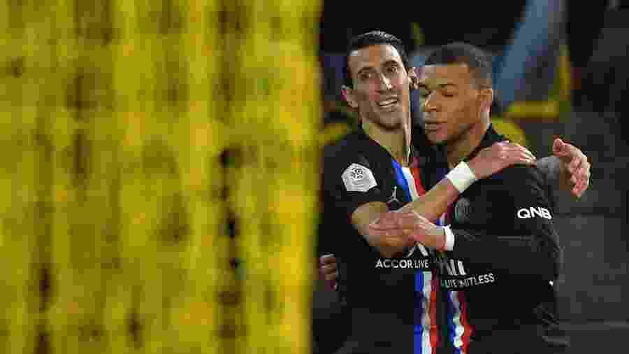 Destaque do jogo, Di María participou dos dois gols do PSG na vitória fora de casa sobre o Nantes - Loic Venance/AFP