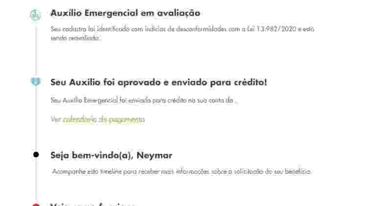 Neymar auxílio emergencial - Reprodução - Reprodução